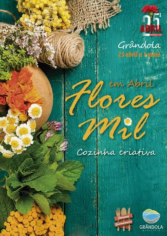 cartaz abril flores mil